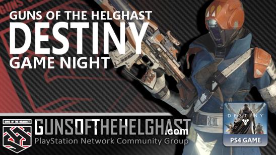 Guns of the Helghast Destiny Game Night Header