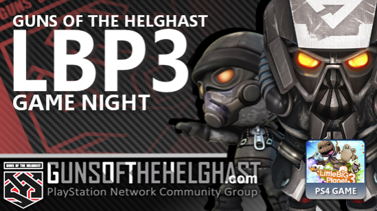 Guns of the Helghast LBP3 Game Night Header